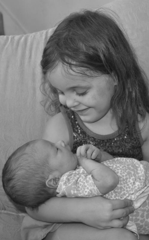 Hannah Noelle holding Ruth Autumn