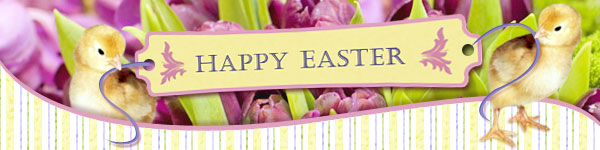 Happy Easter Chick Header