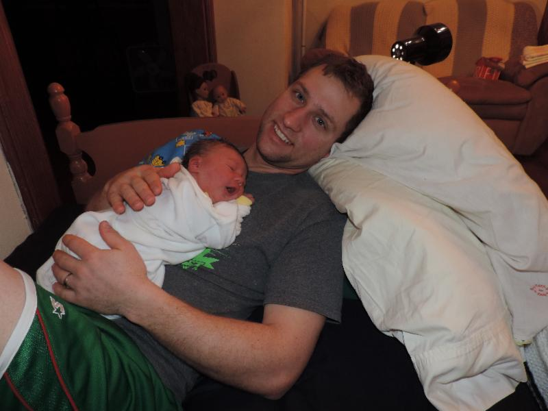 New dad bliss